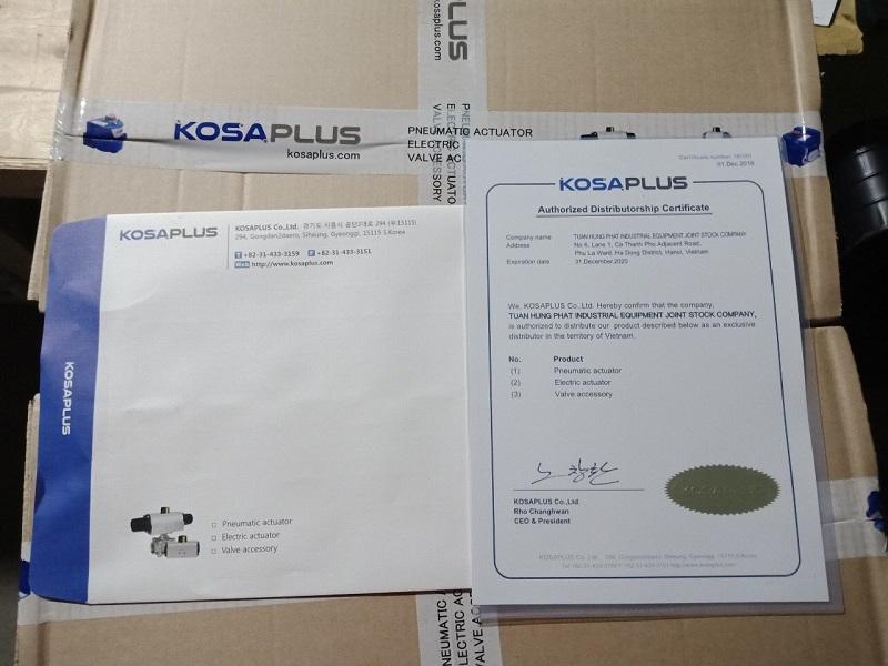 độc quyền van điều khiển bằng khí nén - điện Kosaplus Hàn Quốc