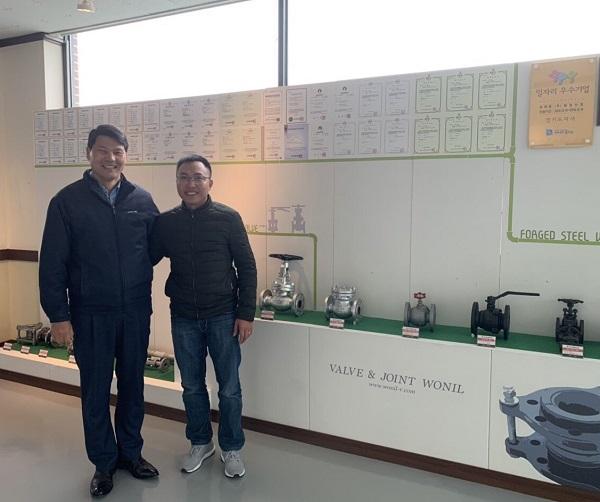 đại diện THP valve thăm và ký kết hợp đồng độc quyền tại Wonil Industry