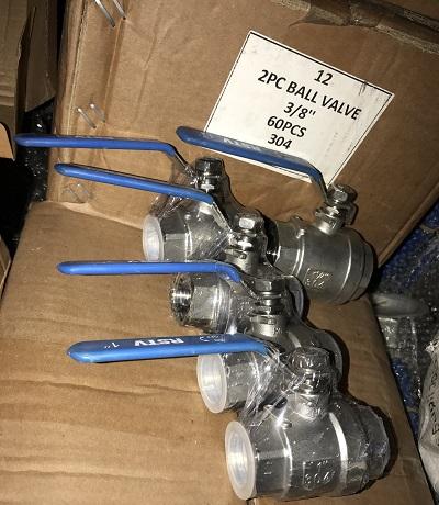 van bi inox 304 2pc lắp ren trung quốc